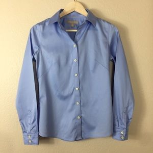 Banana Republic Non-Iron Fitted Blouse Blue size4